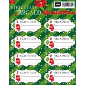 Etiquetas Navidad Erik Manoplas