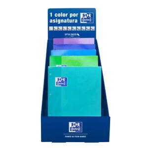 Recambio Oxford School Color 1 Encolado A4 80h 90gr 4 Taladros Cuadric.5x5 Expositor De 25 (Col. Fríos)