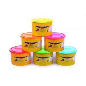 Plastilina Blandiver 460 Gramos Naranja Fluor