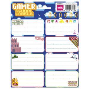 Etiqueta Escolar Erik 15 8x20 Gamer