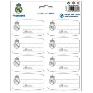 Etiqueta Escolar Erik 15 8x20 Real Madrid