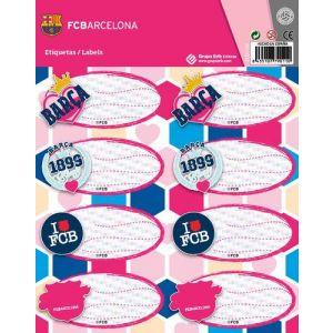 Etiqueta Escolar Erik 15 8x20 Fc Barcelona Chicas