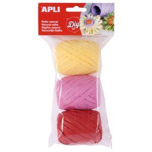 Rafia Apli Natural 30 M Colores Candy Bolsa De 3