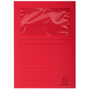 Subcarpeta Exacompta Forever Ventana 120g A4 Rojo Claro