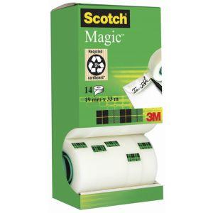 Cinta Adhesiva Scotch Magic Invisible Rollo 33x19 Pack De 14