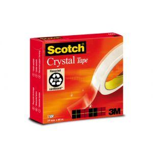 Cinta Adhesiva Scotch Crystal Ultratransparente Rollo 66x19