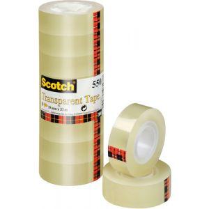 Cinta Adhesiva Scotch 550 Transparente Rollo 66x12