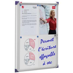Vitrina Nobo De Interior Blanca Magnetica Extraplana Para 4 Hojas A4