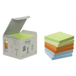 Taco Notas Post-It Reciclados 654 76x76 Colores Surtido 100h Torre De 6