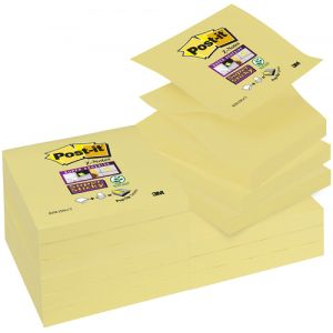 Notas Adhesivas Post-It 90h Z Notes  76x76 (R330) Super Sticky Amarillo Canario