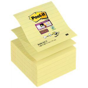 Notas Adhesivas Post-It 90h Z Notes  101x101 (R440) Super Sticky Con Lineas Amarillo Canario