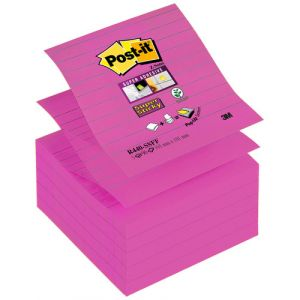 Notas Adhesivas Post-It 90h Z Notes  101x101 (R440) Super Sticky Con Lineas Rosa Fucsia
