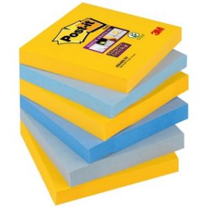 PACK/6 TACOS NOTAS POST-IT 76X76 654 SURTIDOS NY