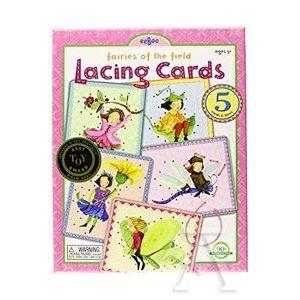 Lacing cards hadas del bosque.