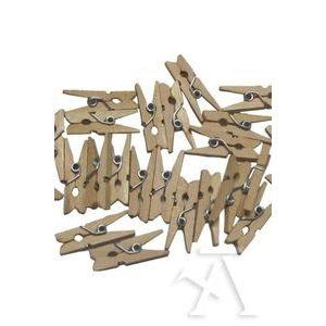 Paq/30 pinzas madera natural