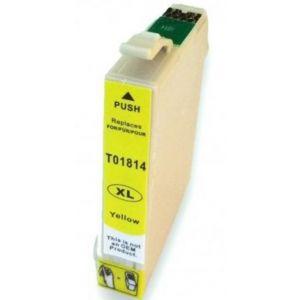 CARTUCHO TINTA COMPATIBLE EPSON T1814 AMARILLO