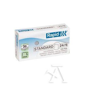 C/20 cajas de 1000 grapas galvanizadas 24/6 rapid