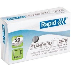 C/20 cajas de 1000 grapas galvanizadas 26/6 rapid