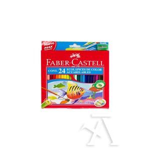 ESTUCHE 24 LAPICES ACUARELABLES + PINCEL FABER-CASTELL