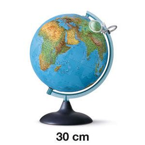 Esfera uranio relieve y lupa con luz 30 cm