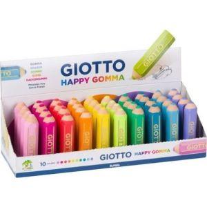 Exp 40 gomas de borrar con forma de lapiz color pastel giotto