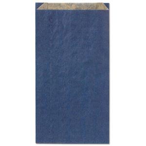 Paq/100 sobre bolsa papel kraft color azul 28x14x5cm