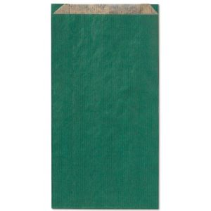 Paq/100 sobre bolsa papel kraft color verde 28x14x5cm