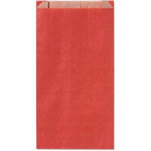 Paq/100 sobre bolsa papel kraft color rojo 28x14x5cm