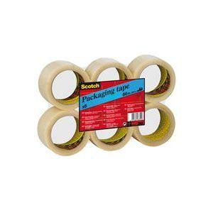 PACK 6 CINTA DE EMBALAJE TRANSPARENTE 66MX50MM SCOTCH 309