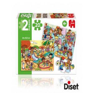 PUZZLE 2X20 PARQUE Y HABITACION DE JUEGOS