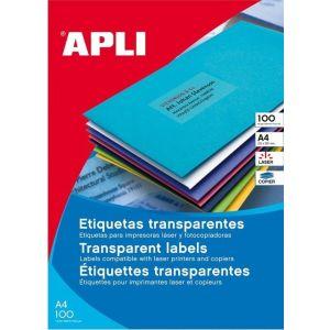 C/20 hojas etiquetas transparentes ft/im 70x37 apli