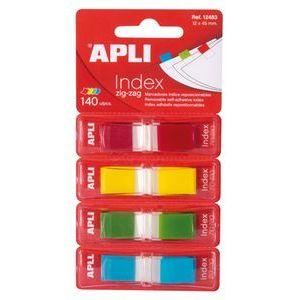 Índices autoadhesivos en zigzag colores surtidos Apli