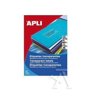 C/100 ETIQUETAS TRANSLUC. RESISTENTES INTEMPERIE 48,5X25,4