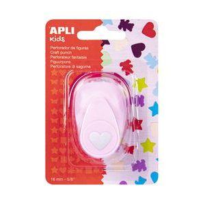 Perforadora papel figuras corazon rosa 16mm