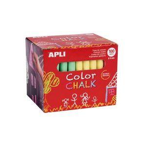 Caja 100 tizas colores surtidos redondas