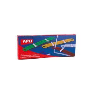 C/50 fastener completo plastico colores surtidos verde,rojo,amarillo,azul y blanco