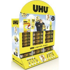 Expositor 60 barras pegamento 8,2g/21g/40g Uhu Minions