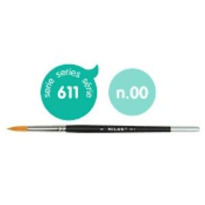 C/6 pincel sintetico redondo nº 00 serie 611 mango corto