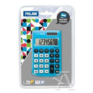 Calculadora de bolsillo pocket touch azul 8 digitos milan