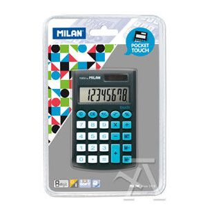 Calculadora de bolsillo pocket touch negra 8 digitos milan