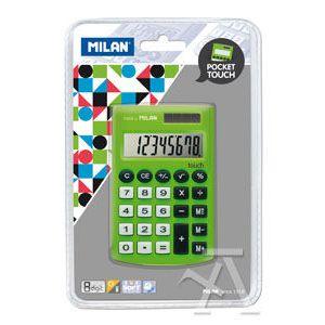 Calculadora de bolsillo pocket touch verde 8 digitos milan
