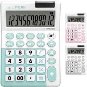 Exp 6 calculadoras de sobremesa antibacterial 12 digitos