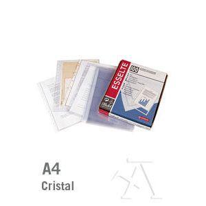C/100 fundas a4 multitaladro pp 80 micras cristal