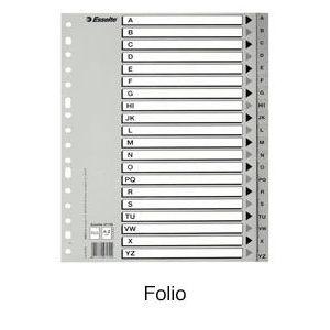 Bolsa separadores indice abc folio multitaladro polipropileno 125 micras