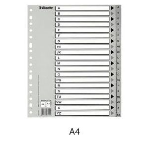 Bolsa separadores indice abc a4 multitaladro polipropileno 125 micras