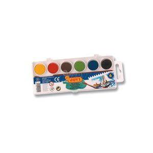 Estuche plastico 6 acuarelas colores surtidos jovi