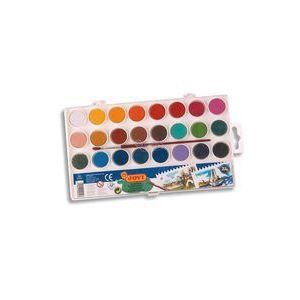 Estuche plastico 24 acuarelas colores surtidos jovi