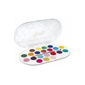 Estuche plastico 22 acuarelas jovi colores surtidos + pincel