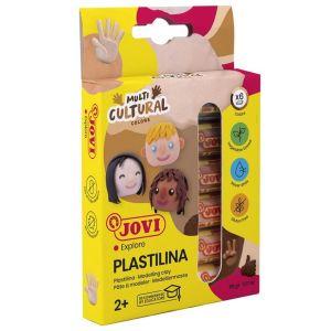 Estuche 6 barras plastilina jovi 15g. colores multicultural