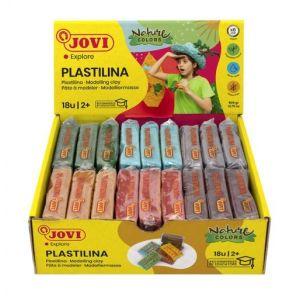 C/18 tacos plastilina jovi 70 pequeña 50g. colores nature